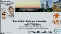 Three Nutritional Challenges in Neonates