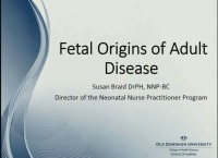 Are There Fetal Origins of Adult Disease?