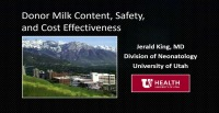 Donor Milk: Content, Safety, and Cost Effectiveness