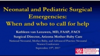 Neonatal and Pediatric Surgical Emergencies: When and Who to Call for Help