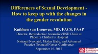 Differences of Sexual Development: How to Keep up with the Changes in the Gender Revolution