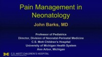 Practical Pharmacology for Neonatal Pain and Sedation