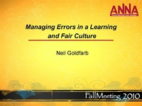 Managing Errors in a Learning and Fair Culture