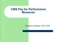 Hemodialysis: CMS Pay for Performance Measures