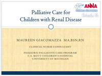 Palliative Care for Children with Renal Disease