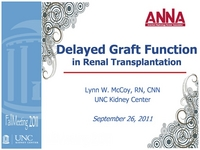 Renal Transplantation and Delayed Graft Function