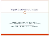 Urgent Start Peritoneal Dialysis