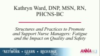 Structures and Practices to Promote and Support Nurse Managers: Fatigue and the Impact on Quality and Safety