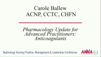 Pharmacology Update for Advanced Practitioners: Anticoagulants