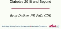 Everything New: Diabetes 2018 and Beyond
