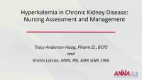 Management of Hyperkalemia in the CKD Patient