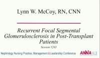 Recurrent Focal Segmental Glomerulosclerosis in Post-Transplant Patients (Pediatrics and Adults)