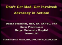 Don't Get Mad, Get Involved: Advocacy in Action