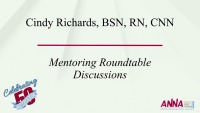 Mentoring Discussion Roundtables