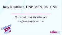 Burnout and Resilience: A Presentive Strategy