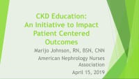 Chronic Kidney Disease - CKD Education