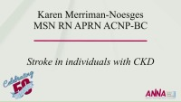 Stroke in Individuals with CKD