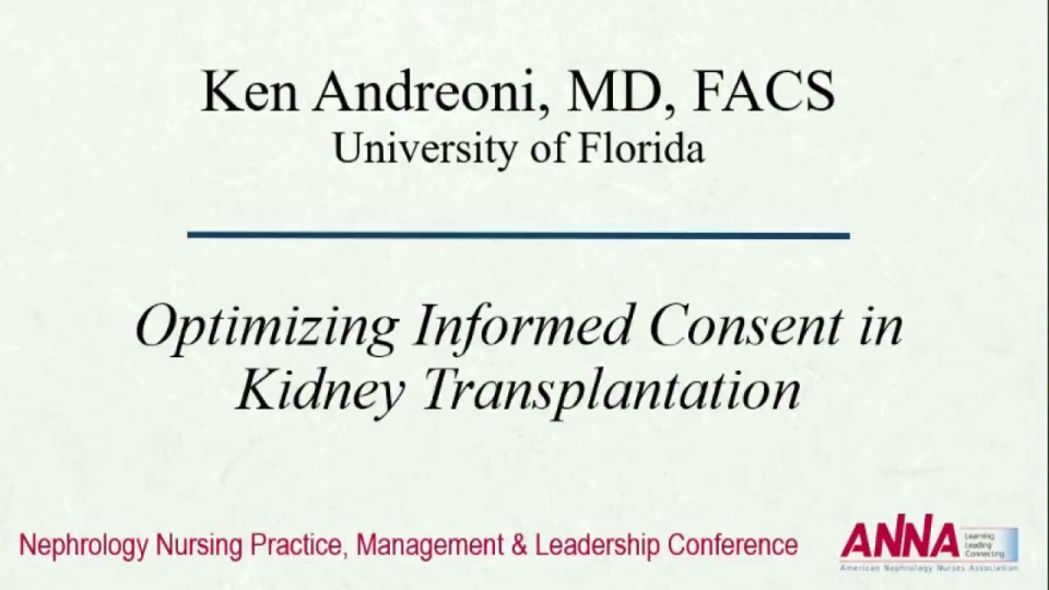Optimizing Informed Consent for Transplant
