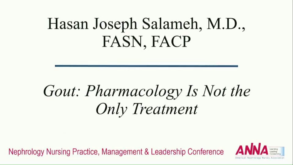 Gout: Pharmacology Is Not the Only Treatment