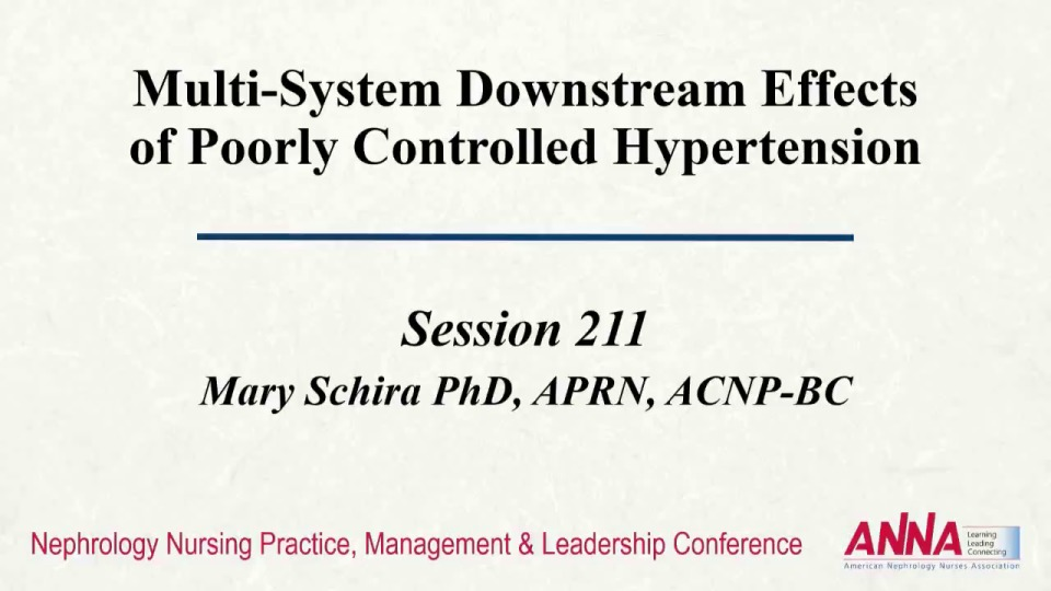 Multi-System Downstream Effects of Poorly Controlled Hypertension