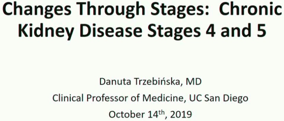 Changes through Stages: Chronic Kidney Disease Stages 4 and 5