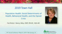 Population Health: Social Determinants of Health, Behavioral Health, and the Opioid Crisis