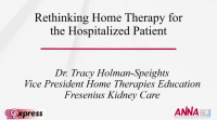Rethinking Home Therapy for the Hospitalized Patient