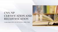 CNN-NP Certification and Recertification
