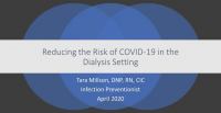 Reducing the Risk of COVID-19 in the Dialysis Setting