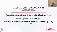 Cognitive Impairment, Vascular Dysfunction, and Physical Inactivity in Older Adults with Chronic Kidney Disease