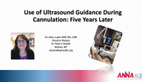 Use of Ultrasound Guidance During Cannulation: 5 Years Later