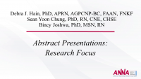 Abstract Presentations: Research Focus