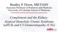 Complement and the Kidney: Atypical Hemolytic Uremic Syndrome and C3 Glomerulopathy