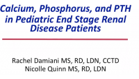 Calcium, Phosphorus, and PTH in Pediatric End-Stage Renal Disease Patients