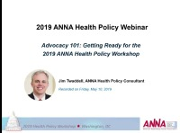 Advocacy 101: Getting Ready for the 2019 ANNA Health Policy Workshop