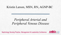 Peripheral Arterial and Peripheral Venous Disease
