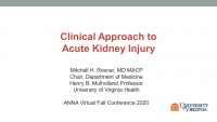 Management of Acute Kidney Injury