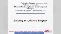 Building an Apheresis Program