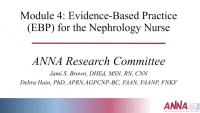 Evidence-Based Practice (EBP) for the Nephrology Nurse