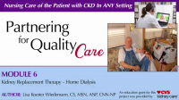 Kidney Replacement Therapy - Home Dialysis