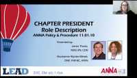 Role Orientation: Chapter President