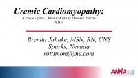 Uremic Cardiomyopathy: A Piece of the CKD Puzzle