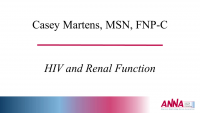 HIV and Renal Function