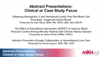Abstract Presentations: Clinical or Case Study Focus