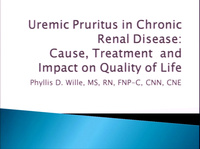Uremic Pruritus in Chronic Renal Disease: Cause and Impact on Quality of Life and Treatment