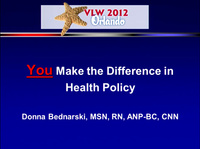 You Make the Difference in Health Policy