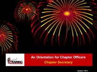 Role Orientation - Chapter Secretary