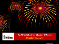 Role Orientation - Chapter Treasurer