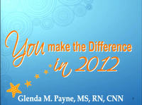 YOU Can Make the Difference in 2012!