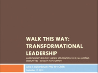 Issues in Management: Walk this Way - Transformational Leadership